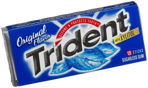 Trident Sugar Free Gum (Original, 18-Piece, 24-Pack) by Trident