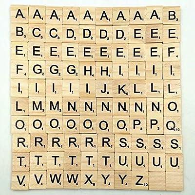 Doyime 100 letras y números de madera del alfabeto, letras y números negros, para manualidades de madera: Amazon.es: Bricolaje y herramientas