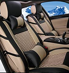 Perfect Fitment  Universal fit, but for some vehicles, it can not be fit perfectly like the custom one, but pretty. Compatible for most vehicle of 5 passenger (5 seats car) Package Contents 2 * Headrests 1 * Rear Armrest  1 * Backrest long Se...