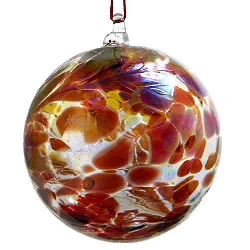 (July Ruby 10cm Birthstone Glass Ball)