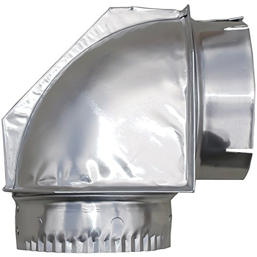 BuilderS Best Inc. 110108 4 Inch Dryer Vent Close Clearance Elbow (4 Inch 90 Degree Elbow)