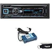 Alpine CDE-163BT Advanced Bluetooth CD Receiver with Steering Wheel Control Adapter Bundle