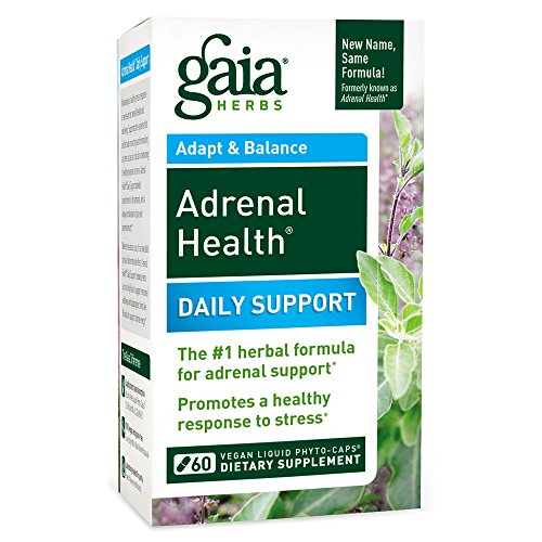Bottle Formula Capsules 60 Count (Gaia Herbs Adrenal Health Daily Support, Vegan Liquid Capsules, 60 Count - Stress Relief, Anxiety Relief, Adrenal Fatigue Supplement, Ashwagandha, Rhodiola, Holy Basil Adrenal Complex)