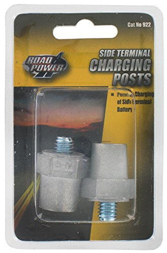 - Road Power 0922 Universal Charging Side Post, Aluminum Alloy/Magnesium, Chrome