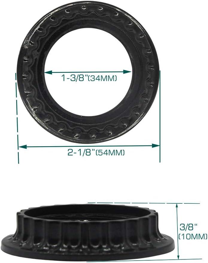 Light Socket Shade Ring Metal Lamp Shade Collar Rings for Medium-Base Ceramic Sockets,Light Fixture Parts of Retainer Rings,Lock E26 E27 Socket with Thread Diameter 1-1//2 Inches
