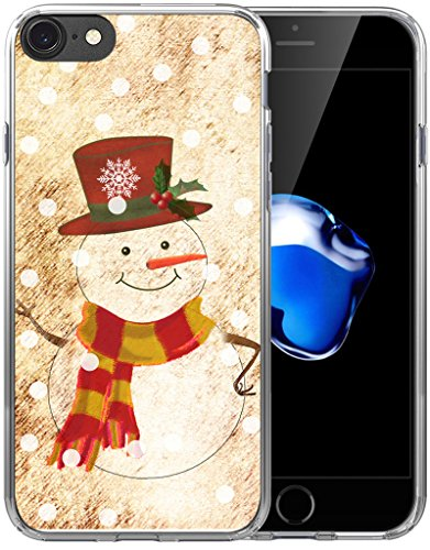 6S Case Christmas Snowman/IWONE Designer Rubber Durable Protective Skin Cover Shockproof Compatible with iPhone 6S/6 + Christmas Theme Design Cute Scene Story Gift Present -