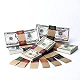 Currency Band Saw Tooth Natural Kraft High Dollar Set $250 - $10,000, 200 of each