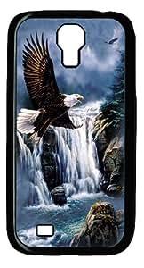 Majestic Flight Eagle Custom Samsung Galaxy I9500/Samsung Galaxy S4 Case Cover Polycarbonate Black