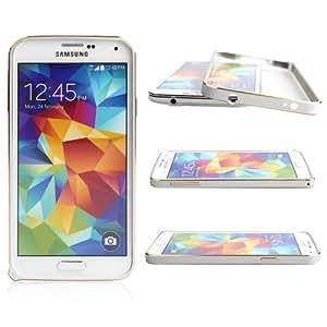 Boriyuan Hot Sale Luxury Ultra Thin Metal Aluminium Alloy Bumper Frame Case for Samsung Galaxy S5 GS 5 V I9600 Smartphone (Silvery)