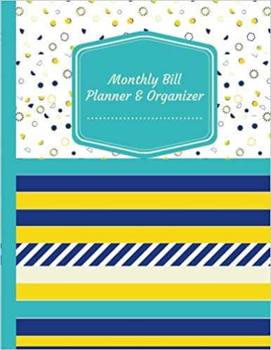 monthly bill planner organizer budget planning journal budget