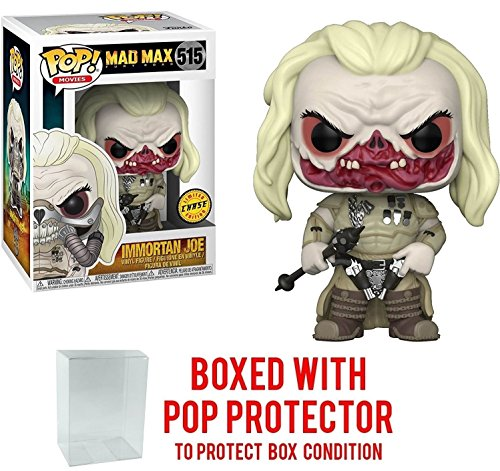 Funko Pop! Movies: Mad Max Fury Road - Immortan Joe CHASE Variant Limited Edition Vinyl Figure (Bundled with Pop BOX PROTECTOR CASE)