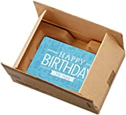 Amazon.com Gift Card in a Mini Amazon Shipping Box (Happy Birthday Icons Card Design)
