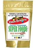 Virgin Extracts (TM) Pure Premium Organic Red Raspberry Powder Freeze Dried Extract 4:1 Red Raspberry Concentrate (4 X Stronger) 16oz Pouch