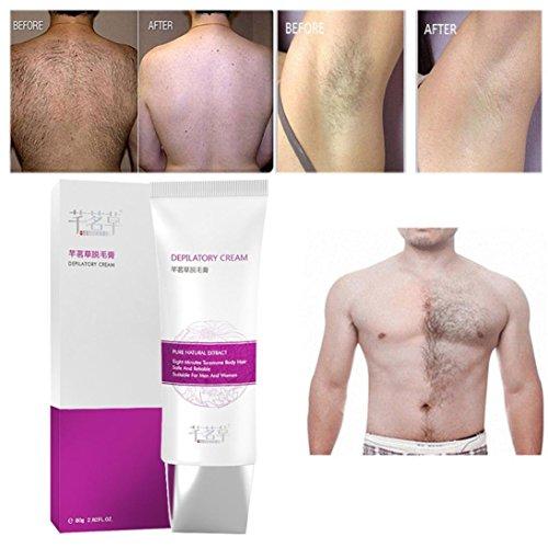❤JPJ(TM)❤️_Hot sale 80g New Painless Depilatory Hair Removal Cream For Body Leg Armpit Unisex (Multicolor)