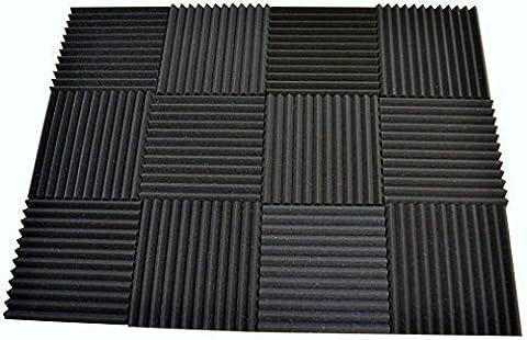 12 Pack - Acoustic Panels Studio Soundproofing Foam Wedge tiles 1
