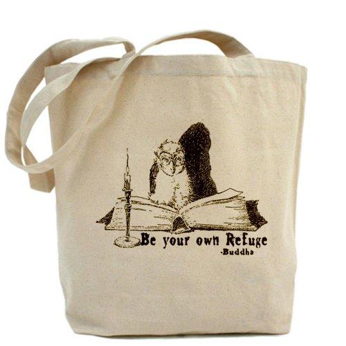 CafePress borsa, a forma di borsa, motivo: gufo