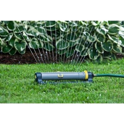 Melnor 3,900 sq. ft. Deluxe Turbo Oscillating Sprinkler With Clog Resistant 18 Rubber Nozzles And Clog/Puddle ResistantTurbo Drive Motor, # 172-849