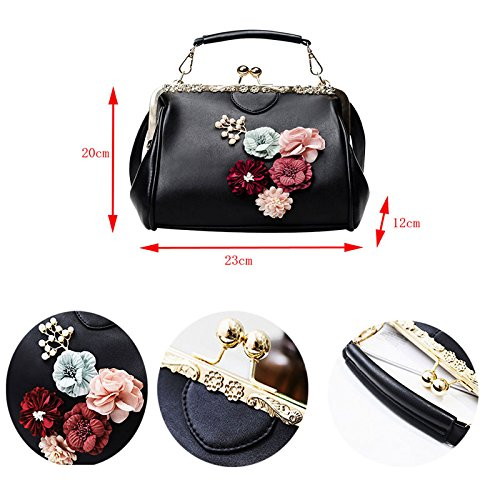 Donalworld Women Retro Hollow out PU Leather Handbag S Pt13 by Donalworld (Image #3)