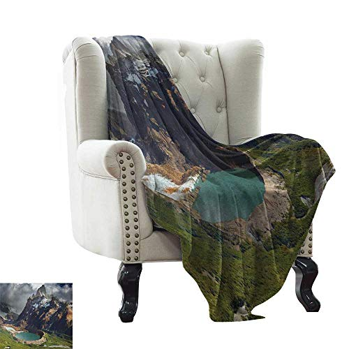 (Weighted Blanket for Kids Landscape,Mount Fitz Roy and Laguna Torre Los Glaciares National Park Patagonia Argentina, Multicolor Reversible Soft Fabric for Couch Sofa Easy Care 50