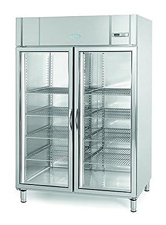 Infrico agb1402bt-cr puerta de cristal pantalla congelador, 1300 L ...