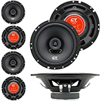 CT Sounds Bio 6.5 Inch 2-Way Silk Dome Coaxial Car Speakers - Set of 4