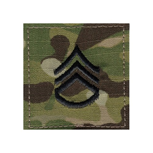 Authentic Military Rank Insignia US Made (Staff Sergeant - MultiCam) (Army Uniform Rank)