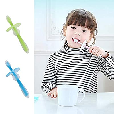 Liobaba Professional Soft Silicone Infant Baby Safe Bendable Teether Training Teeth Toothbrush Newborn Baby Dental Oral Care Brush: Home & Kitchen