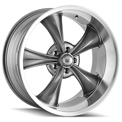 Ridler Style 695 695 Grey Wheel with Machined Lip (18x8