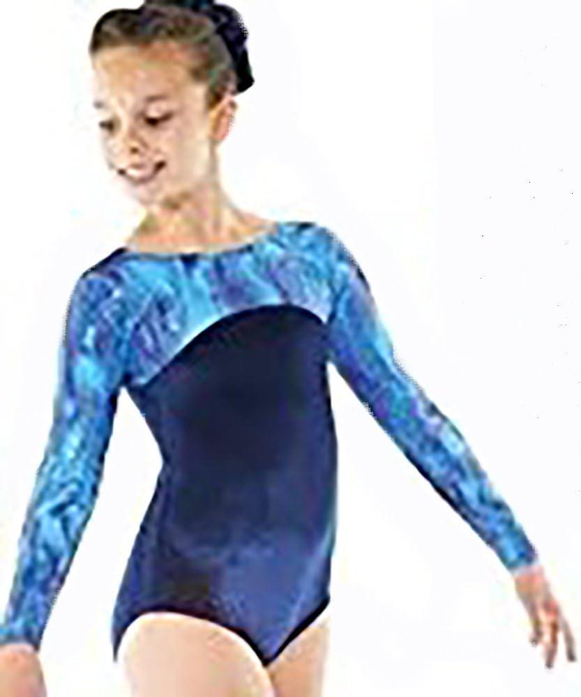 Gymnastic Leotard Shorts Girls  Gym Dance Velvet  Navy FAST DELIVERY UK