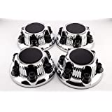 Set of 4 Replacement Aftermarket Center Caps Hub Cover (Fits Chevy & GMC Only 6 Lug Wheels) 16 & 17 Inch Wheel - Part Number: IWCC5129C by IWC