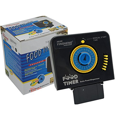 Signstek Mini batteriebetrieben Zeitgesteuerter Fischfutterautomat Futterautomat für Fisch-Aquarien