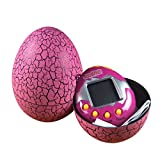 Dinosaur Egg Virtual Pets on a Keychain Digital Pet Electronic Game (pink)
