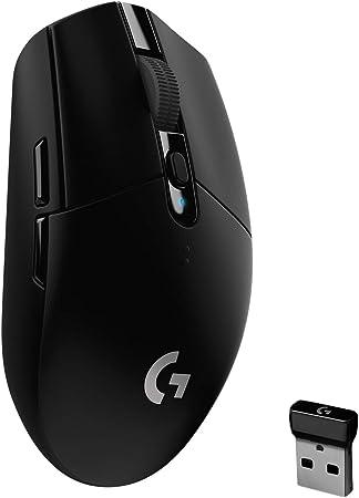 Logitech G305 LIGHTSPEED Ratón Gaming Inalámbrico, Captor HERO 12K, 12,000 DPI, Ultra-ligero, Batería de 250h, 6 Botones Programables, Memoría ...