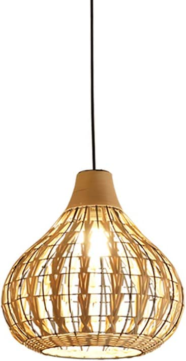 HAIXIANG Tropical Bamboo Chandelier Pendant Lamp Ceiling Lighting Shades Weave Hanging Light DIY Wicker Rattan LED Light Fixtures Bedroom Dining Room Living Room Office Restaurant Bar Cafe Beige Color