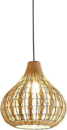 Arturesthome Rattan Pendant Light Handmade Ceiling Lighting 3 Colors French County Style Pedant Lamp Handmade Basket Lamp Woven Wicker Lamp