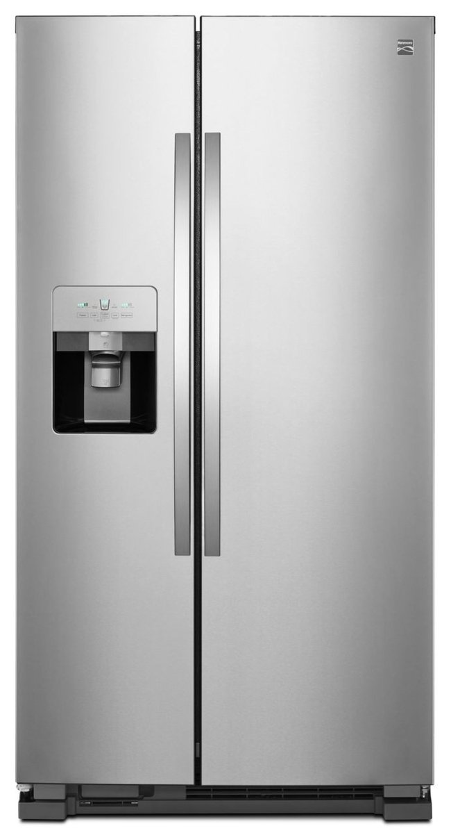Kenmore 51115 25 cu. ft. Side-by-Side Refrigerator, Active Finish Sears Home Services - water filters