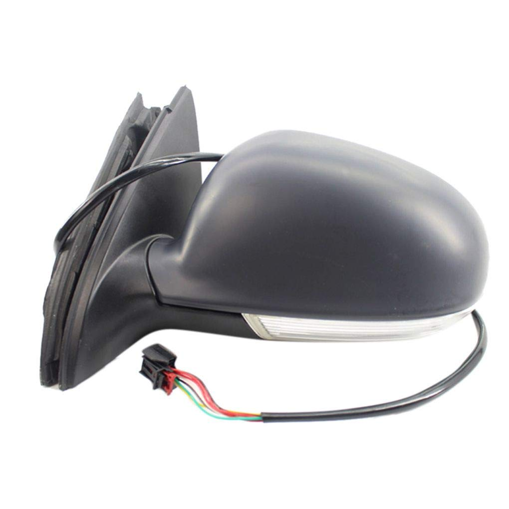 Four Left Driver Side Wing Power Mirror Glass Rearview Mirror Replacement for Sagitar Jetta MK5 1K1857507BG