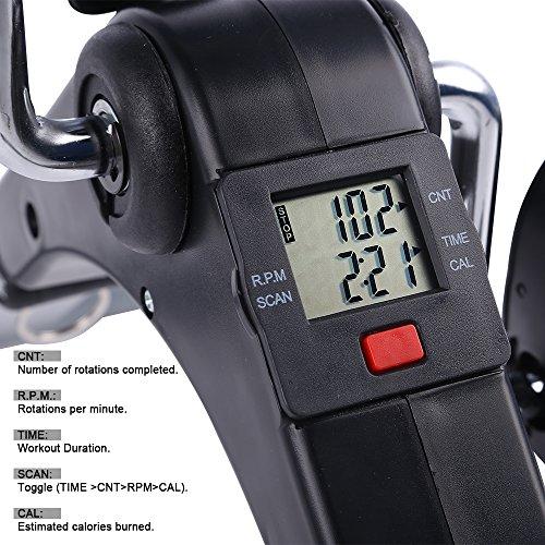 Folding Pedal Exerciser, AGM Medical Digital Under Desk Bike Foot Cycle Arm & Leg Peddler Machine by AGM (Image #5)