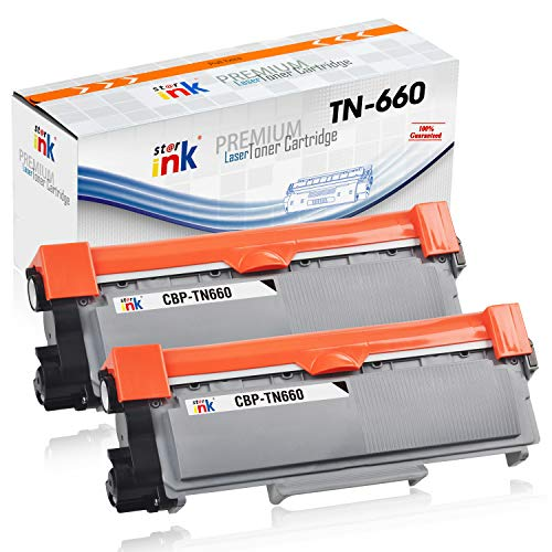 Starink Compatible Toner Cartridge Replacement for Brother TN660 TN630 High Yield for HL-L2320D DCP-L2540DW HL-L2380DW MFC-L2720DW HL-L2360DW MFC-L2700DW HL-L2300D HL-L2340DW Printer, Black, 2 Pack