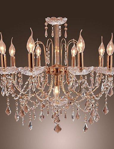 Usw Elegant Crystal Chandelier with 9 Lights , 110-120v