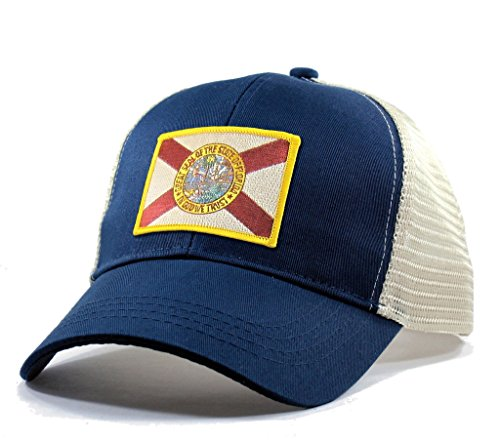Homeland Tees Men's Florida Flag Patch Trucker Hat - (State Flag Trucker Hat)