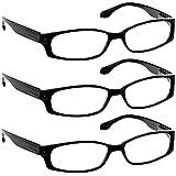 Reading Glasses 2.25 3 Black (3 Pack) F503 TruVision