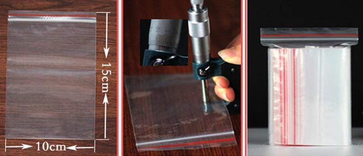 100 Unids 8x12 cm Transparente PE Flat Zip Lock Bolsas de Sellado Autom/ático V/álvula de Pl/ástico Cremallera Bolsas Organizador de Contenedores para Nueces Almacenamiento de Caramelos