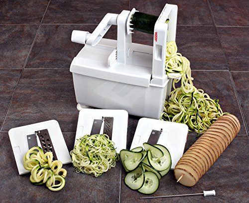 Paderno world cuisine 4 blade folding vegetable slicer - Paderno world cuisine spiral vegetable slicer ...