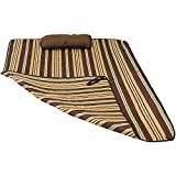 Sunnydaze Weather-Resistant Outdoor Polyester Quilted Hammock Pad and Pillow Only Set, Desert Stripe
