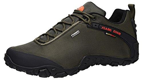 (XIANG GUAN Men's Outdoor Low-Top Oxford Lightweight Trekking Hiking Shoes (11 M US, Green))