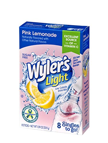 Wyler's Light Singles To Go Powder Packets, Water Drink Mix, Pink Lemonade, 96 Single Servings (Pack of -