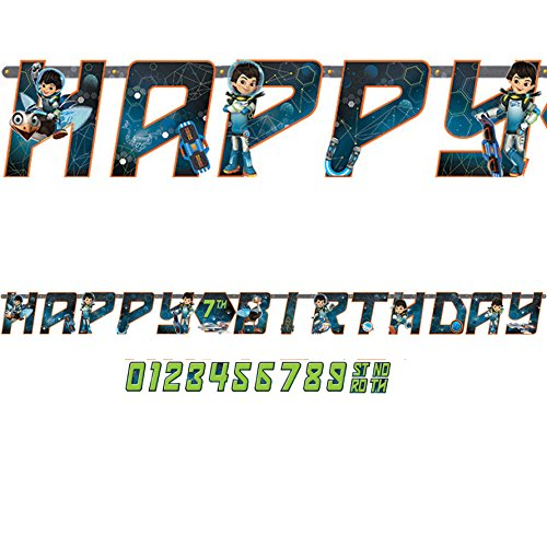 Disney©Miles from Tomorrowland Jumbo Add-an-AgeHappy Birthday Letter Banner
