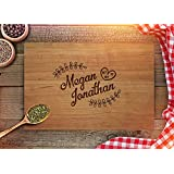 Custom Cutting Board - Personalized Wedding Gift for Couples - Monogram Anniversary Gift - Christmas Gifts - Kitchen Décor - CB234 (Cherry, 7x8)