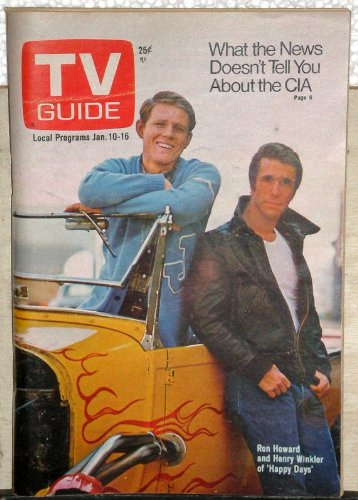 - TV Guide January 10-16, 1976 (Ron Howard and Henry Winkler of Happy Days; What the News Doesn't Tell You About the CIA; The NFL's Role in American History, Volume 24, No. 2, Issue #1189)